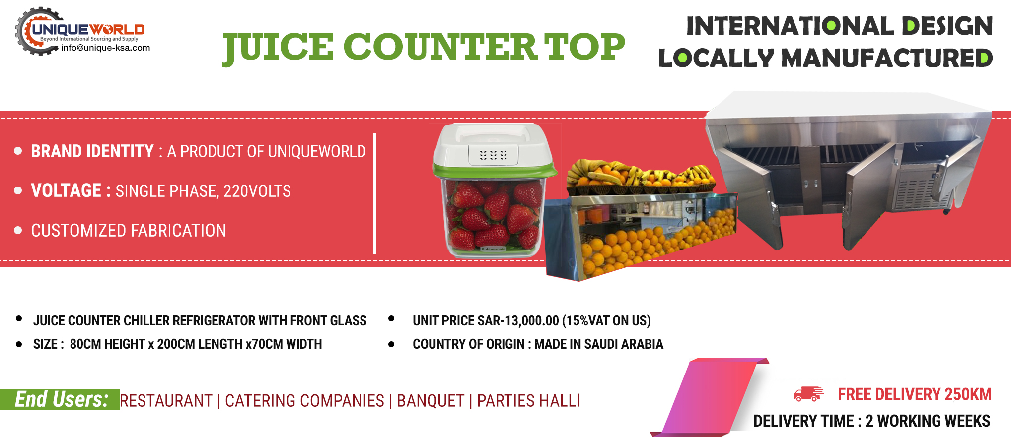 Juice Counter Chiller